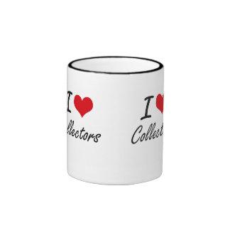 Amo diseño artístico de los colectores taza a dos colores