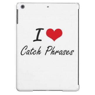 Amo diseño artístico de los esloganes funda para iPad air