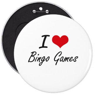 Amo diseño artístico de los juegos del bingo chapa redonda 15 cm