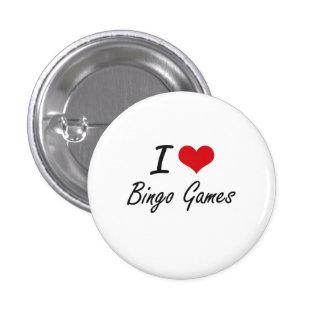 Amo diseño artístico de los juegos del bingo chapa redonda 2,5 cm
