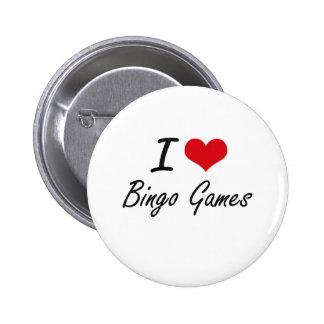 Amo diseño artístico de los juegos del bingo chapa redonda 5 cm