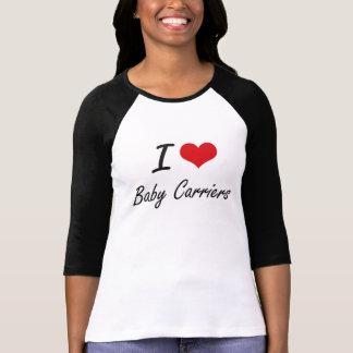 Amo diseño artístico de los portadores de bebé camiseta
