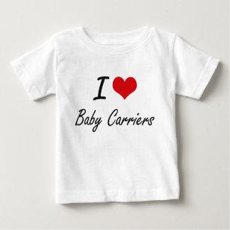 Amo diseño artístico de los portadores de bebé camisetas