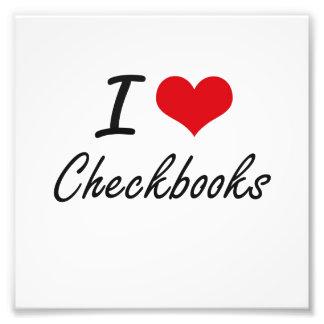 Amo diseño artístico de los talonarios de cheques impresión fotográfica