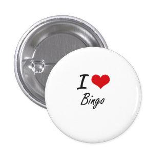 Amo diseño artístico del bingo chapa redonda 2,5 cm