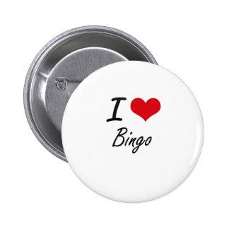 Amo diseño artístico del bingo chapa redonda 5 cm