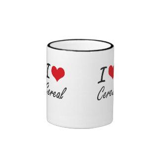 Amo diseño artístico del cereal taza a dos colores