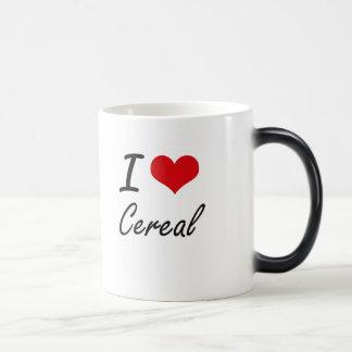 Amo diseño artístico del cereal taza mágica