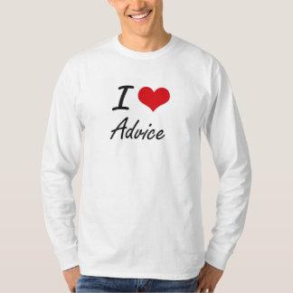 Amo diseño artístico del consejo camisas