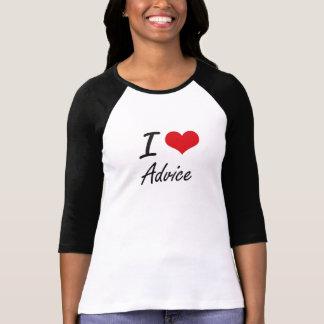 Amo diseño artístico del consejo camisetas