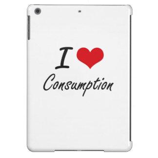 Amo diseño artístico del consumo funda para iPad air