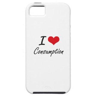 Amo diseño artístico del consumo iPhone 5 Case-Mate cobertura