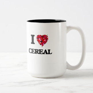 Amo diseño de la comida del cereal taza dos tonos