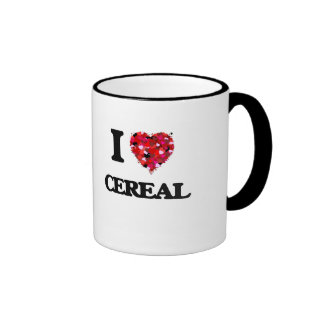 Amo diseño de la comida del cereal taza a dos colores