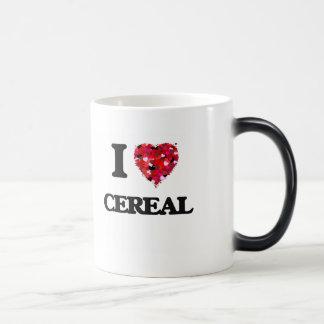 Amo diseño de la comida del cereal taza mágica