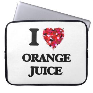Amo diseño de la comida del zumo de naranja mangas portátiles