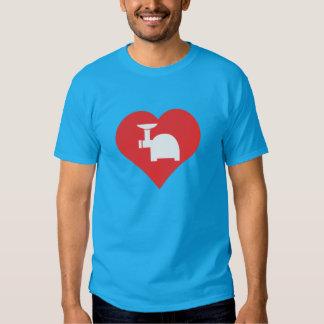 Amo diseño de las amoladoras de la carne de vaca camisetas