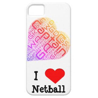 Amo diseño del arte de la palabra del Netball Funda Para iPhone SE/5/5s
