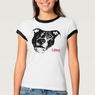 Amo diseño del logotipo de Pitbulls - de moda Camisetas