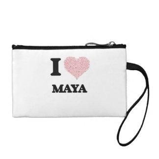 Amo diseño del maya (corazón hecho de palabras)