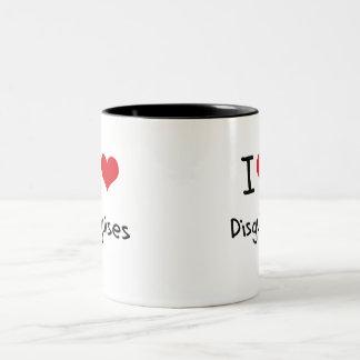 Amo disfraces tazas