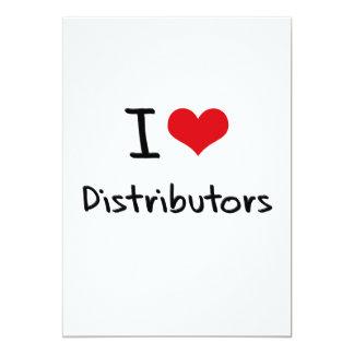 Amo distribuidores invitación 12,7 x 17,8 cm