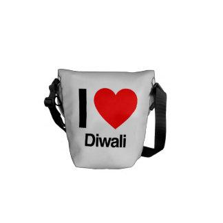 amo diwali bolsas de mensajería