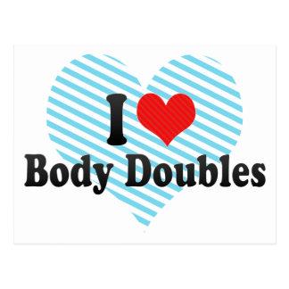 Amo dobles del cuerpo postales