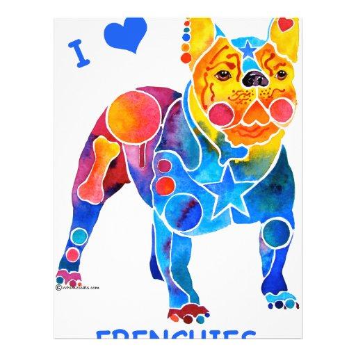 Amo dogos franceses flyer a todo color