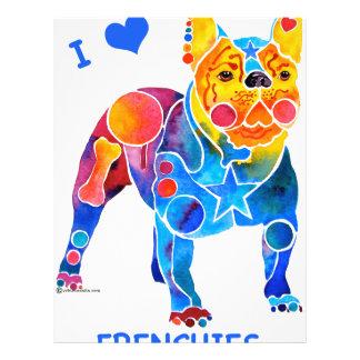 Amo dogos franceses folleto 21,6 x 28 cm
