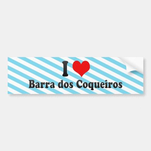 Amo DOS Coqueiros, el Brasil de Barra Etiqueta De Parachoque