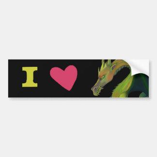 Amo dragones pegatina para coche
