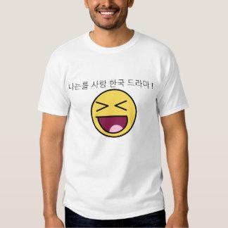 Amo dramas coreanos camisetas