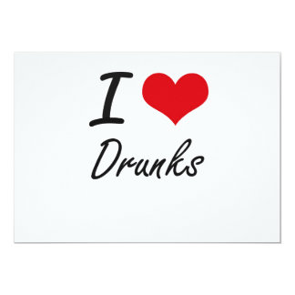 Amo Drunks Invitación 12,7 X 17,8 Cm
