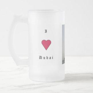 Amo Dubai Taza De Cristal Esmerilado