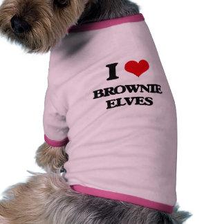 Amo duendes del brownie camiseta con mangas para perro