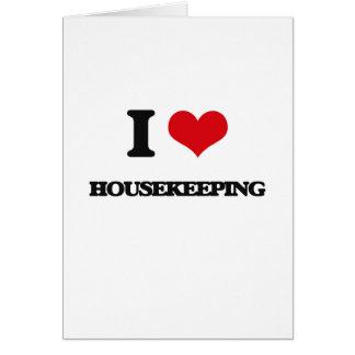 Amo economía doméstica tarjeta