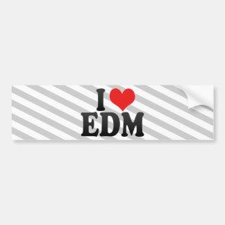 Amo EDM Pegatina Para Coche