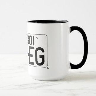 """""""Amo EG."""" Taza japonesa de la placa"""