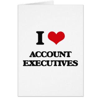 Amo ejecutivos de cuenta tarjeta de felicitación