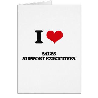 Amo ejecutivos de la ayuda de las ventas tarjeta de felicitación