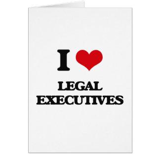 Amo ejecutivos legales tarjeta de felicitación