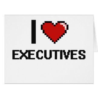 Amo ejecutivos tarjeta de felicitación grande