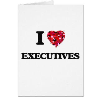 Amo ejecutivos tarjeta de felicitación