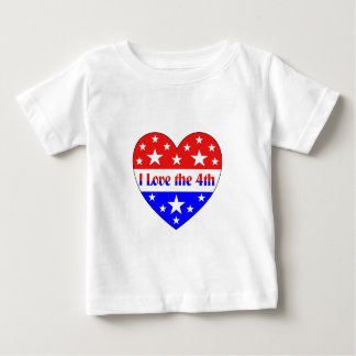 Amo el 4to camiseta de bebé