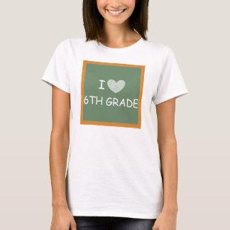 Amo el 6to grado camiseta