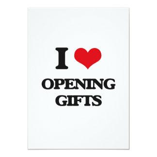 Amo el abrir de los regalos invitación 12,7 x 17,8 cm