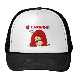 Amo el acampar gorros bordados