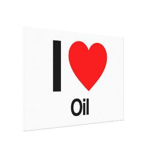 amo el aceite lona estirada galerías