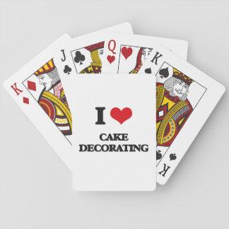 Amo el adornamiento de la torta cartas de juego